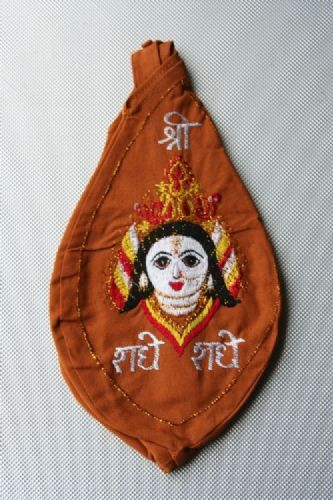 Jay Radha Picture Japa Bead Bag (Embroidered).